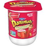 Danimals Strawberry Nonfat Yogurt, Frozen Yogurt (4 Oz. Cup, 48 Per Case)
