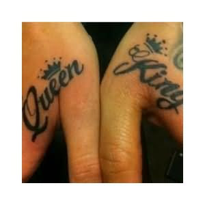 Queen And King Tattoos On Both Hands