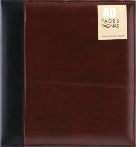 Albums Refills Pinnacle 80 Page Magnetic Faux Leather Ring Bound