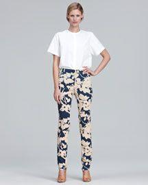 3.1 Phillip Lim Slim Floral Print Pants