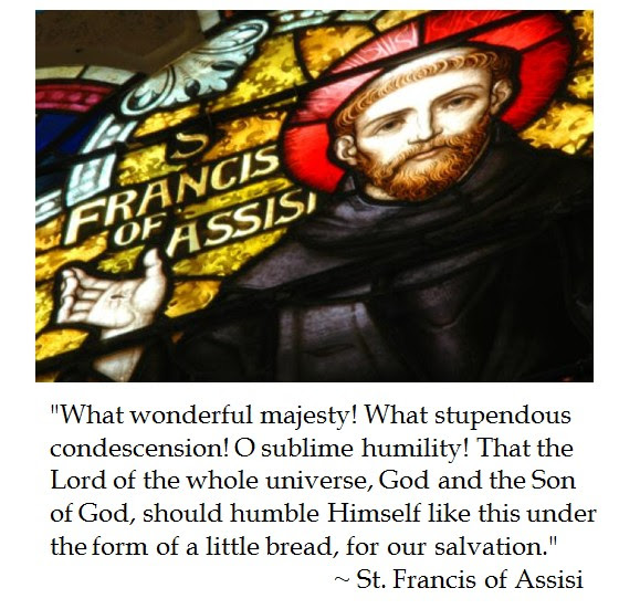 St. Francis Assisi on Eucharist
