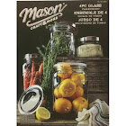 Mason Craft Jars and More 4 Variable Sized Glass Canisters with Lids (4 Jar Set)