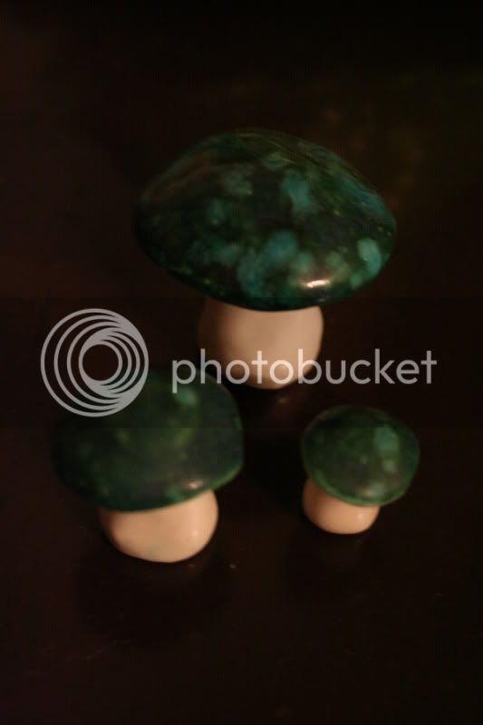 mushroom figurines