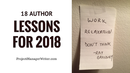 18 Author Lessons for 2018 - Project Manager Writer | Courtney Kenney