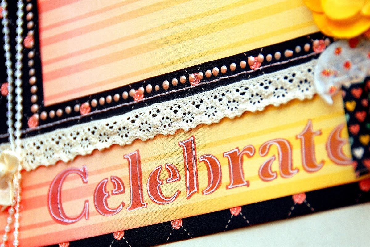 Handmade Celebrate Frame by Irene Tan