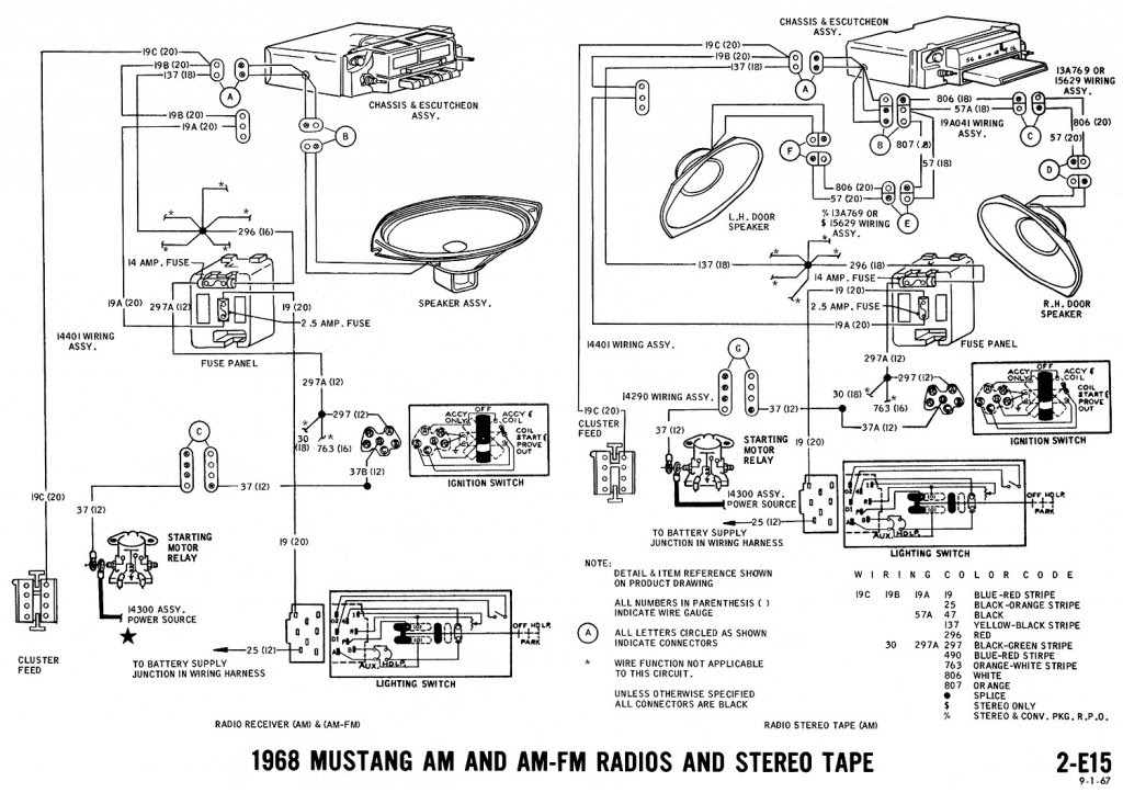 66 Mustang Radio Wiring 1999 Tahoe Fuse Box Diagram Bege Wiring Diagram