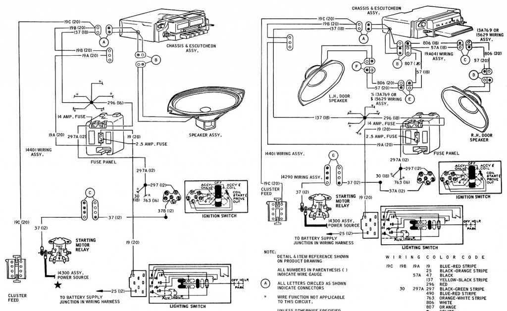 1968 Mustang Ignition Switch Wiring : 1968 Mustang Wiring