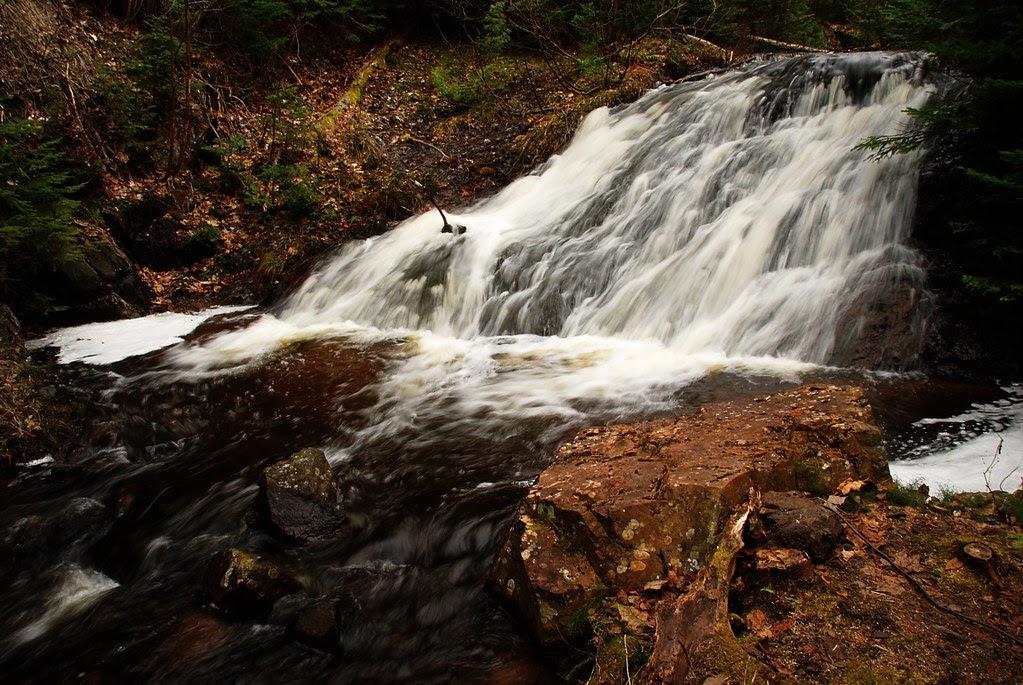 A slide-like waterfall.