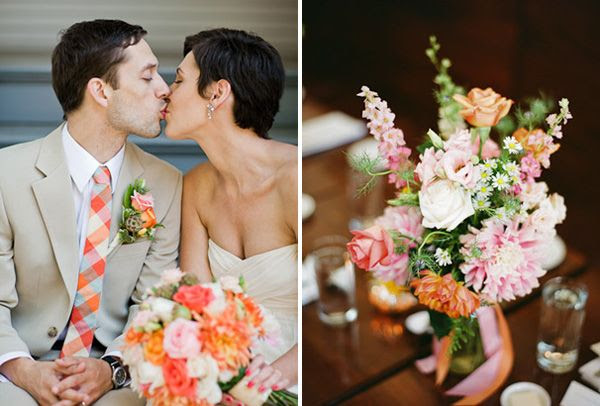 Orange and Pink Wedding Ideas Cooper Carras Wedding Photography Real