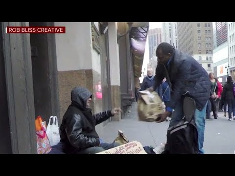 Video – Showing people how to use the Amazon Prime Now app to send Deliveries to Homeless People Within Hours – CBS News Reports