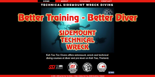 Koh Tao Tec Divers - technical sidemount wreck diving courses | COMBINED TRAINING
