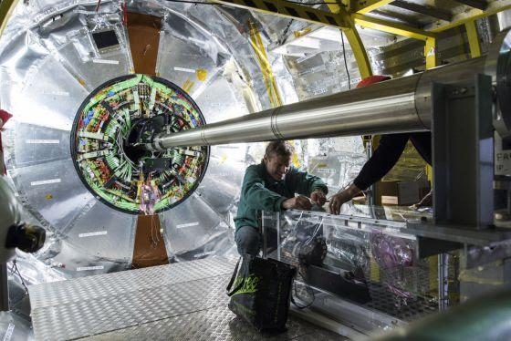 Detector CMS del LHC, en Ginebra