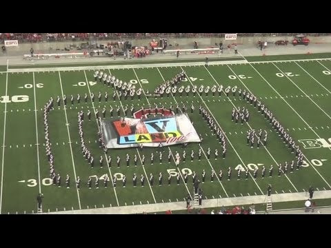 Marching Band Transforms Into Giant TV Set And Plays Classic TV Tunes
