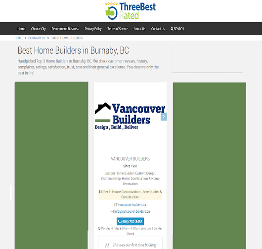 Best Custom Home Builder in the City - Vancouver Builders Ltd - Vancouver Builders Ltd
