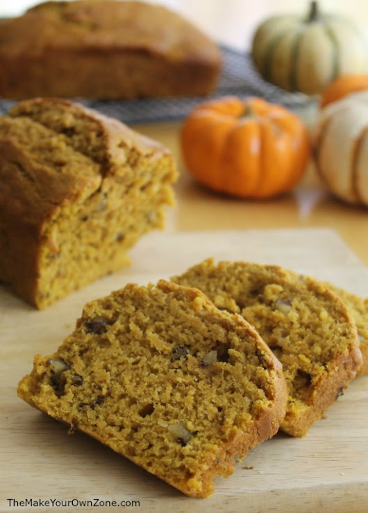Gift Size Pumpkin Nut Bread - The Make Your Own Zone