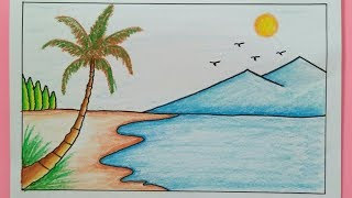 620 gambar pemandangan pantai untuk anak sd Terbaru
