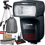 "Canon Speedlite 470EX-AI with Padded Backpack, 57"" Tripod, and AA Batteries"