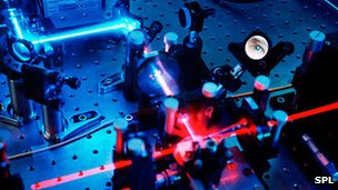 Quantum cryptography setup in laboratory