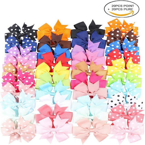 Google Express Kissbuty 40pcs 31 Inch Baby Girls Grosgrain Ribbon