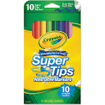 Crayola Washable Supertips Markers, Assorted - 10 count