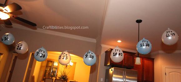 aftellen ballonnen Oud en Nieuw