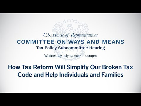 Ways and Means Tax Subcommittee Hearing today - Roskam Calls for Bipartisan Approach