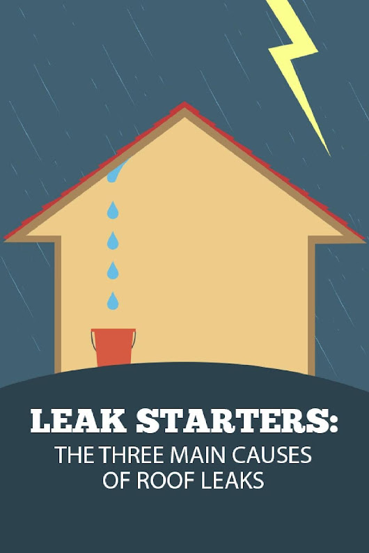 Leak Starters the three Main causes of Roof Leaks