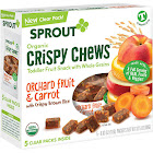 Sprout Crispy Chews, Organic, Orchard Fruit & Carrot, T (12 Months & Up) - 5 pack, 0.63 oz packets