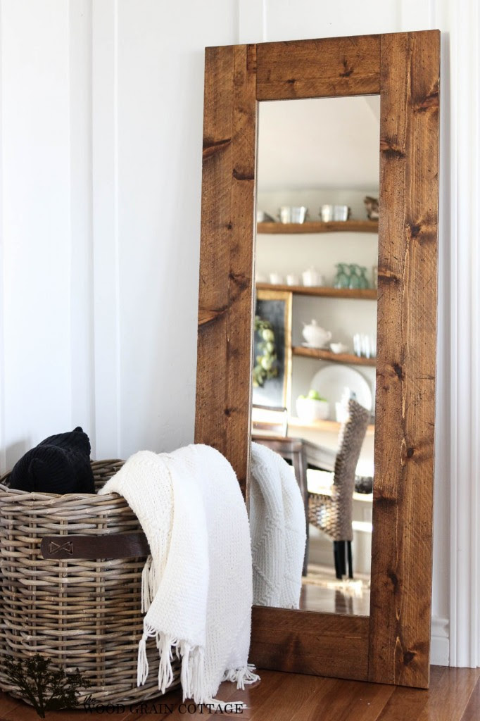 DIY Wood Framed Mirror from The Wood Grain Cottage | Friday Favorites at www.andersonandgrant.com
