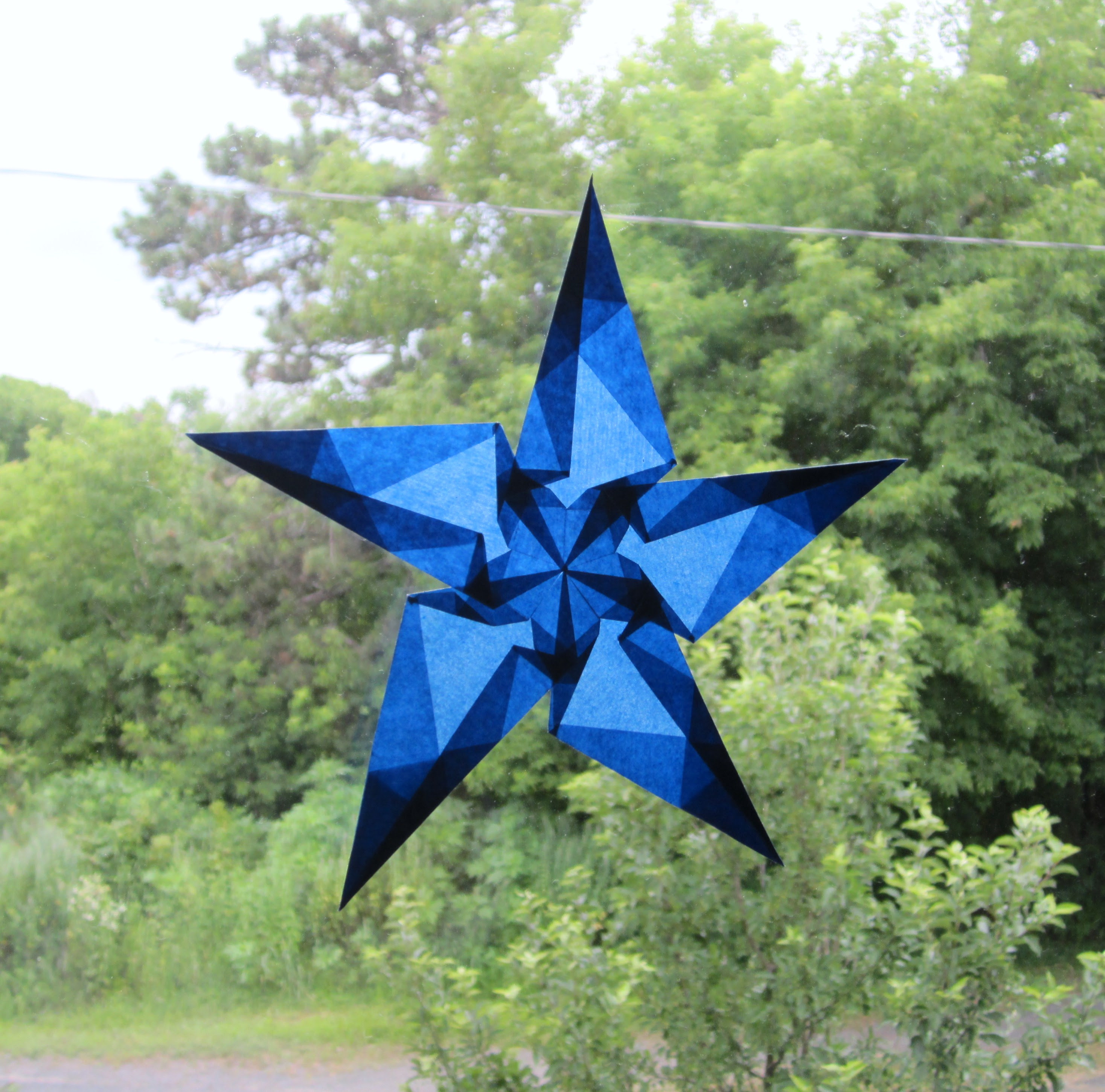 Blue 5 Pointed Star