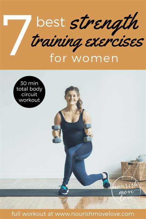 strength training exercises  women nourish