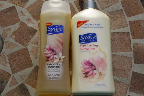 Suave Everlasting Sunshine Body Wash and Lotion