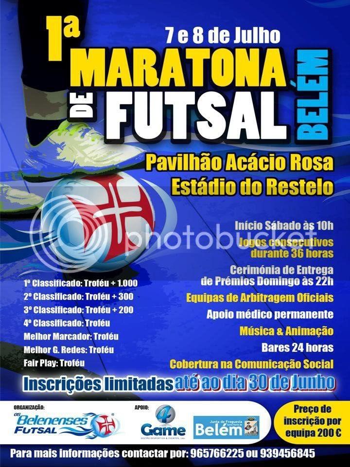 Cartaz Maratona de Futsal 2012