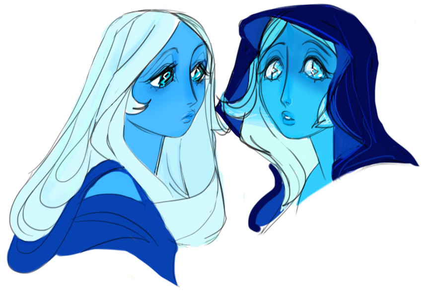 some more blues.. i really love her hair!!