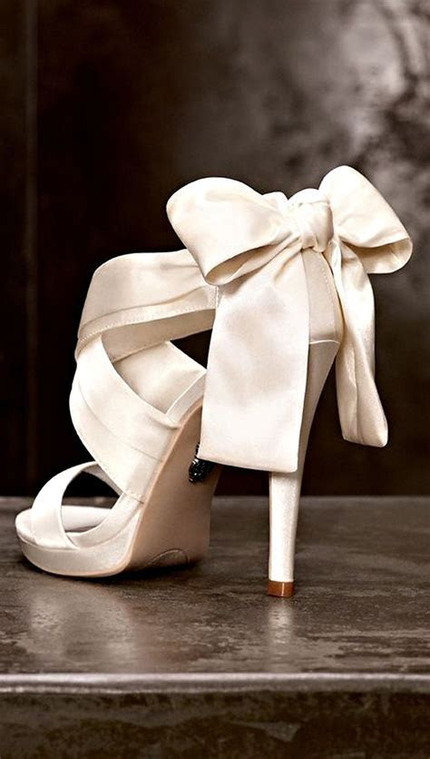 Cute Yet Stunning High Heels With Bows   shoes i love