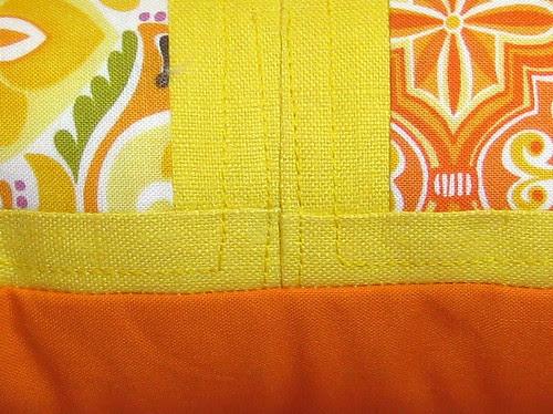 spring pillow detail