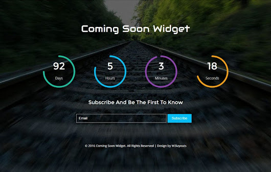 Coming Soon Widget Flat Responsive Widget Template