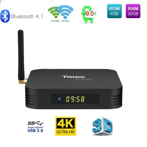 TX6 Android 9.0 Smart TV Box Allwinner H6 Quad Core 4K WiFi BT 4.1 Set Top Box