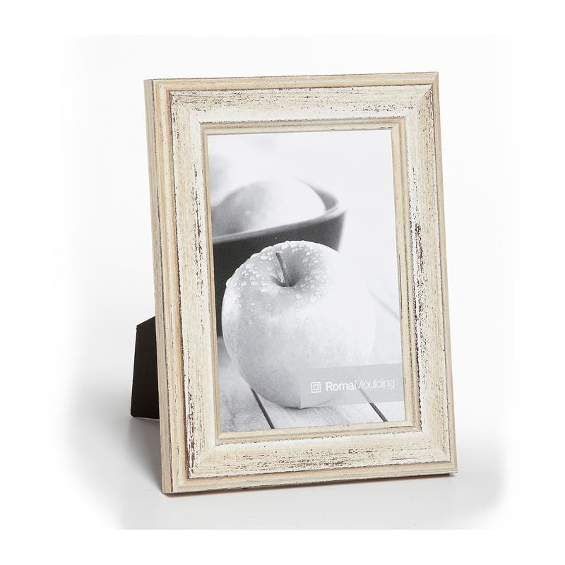 Roma 8x10 Inch Style 210048 White Distressed Ready Made Wood Frame