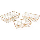 Zuo Modern Gold Baskets Set of 3, from 1StopBedrooms - A10644