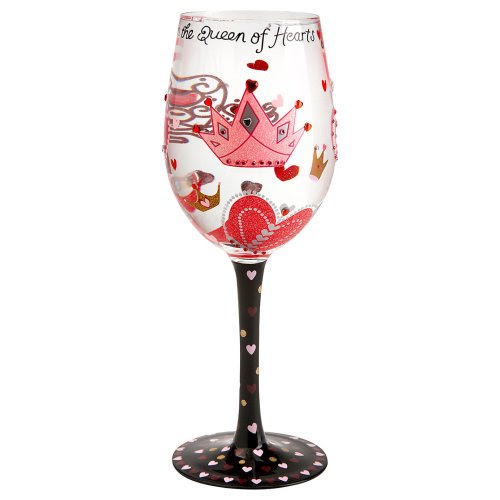 Lolita Queen of Hearts Wine Glass