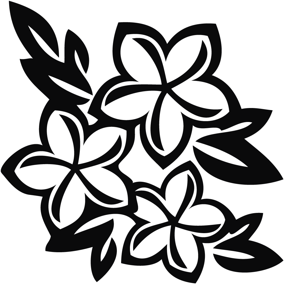 Black And White Hibiscus Clipart Free Download Best Black And