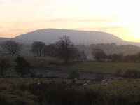 Pendle Hill on the drive home