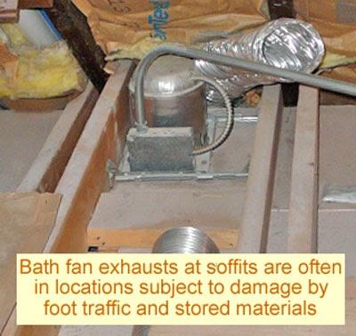 Soffit vent for bathroom fan bath fans Installation of bathroom exhaust fan