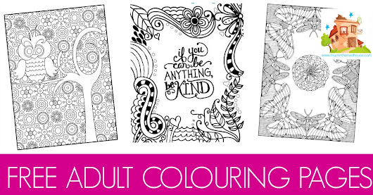 Free colouring pages for adults - Mum In The Madhouse