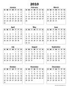 Printable Yearly Calendars - CalendarsQuick