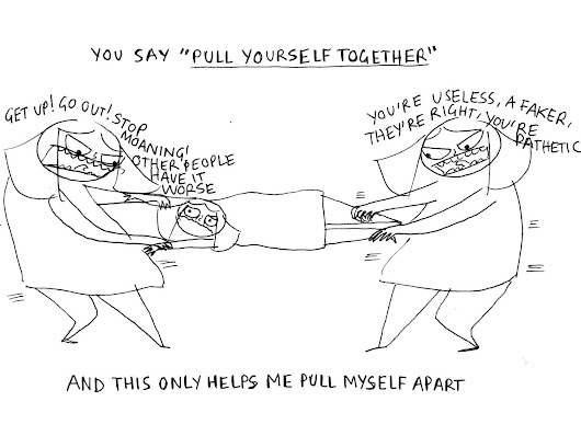 A 22-year-old illustrator's brutally honest cartoons about mental health