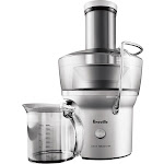 Breville - Juice Fountain Compact Electric Juicer - Silver