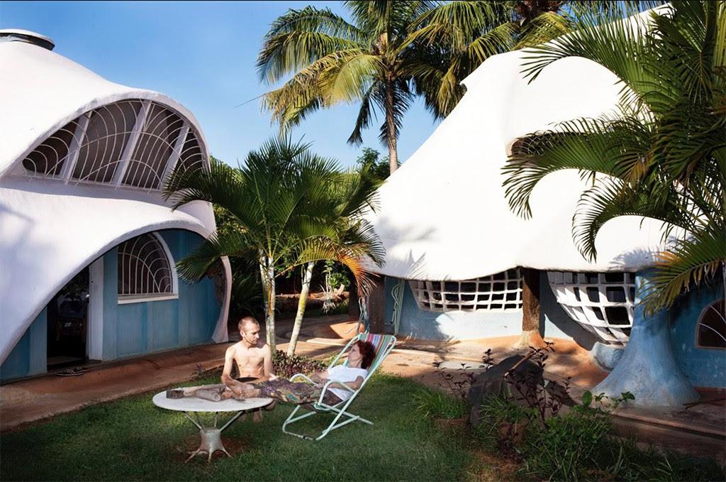 Casas têm formato curioso (Foto: Divulgação)
