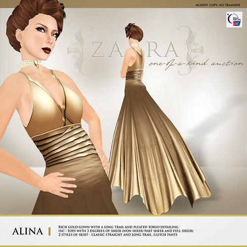 {Zaara} One-of-a-kind auction for RFL : Alina Gown
